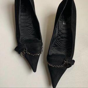 Gucci Chain/Medallion Kitten Heels